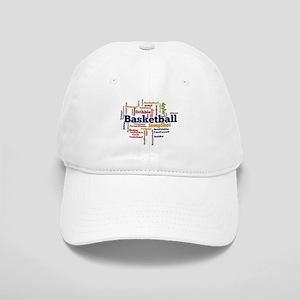 Basketball Word Cloud Baseball Cap