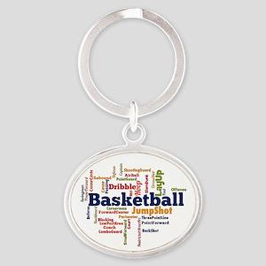 Basketball Word Cloud Keychains