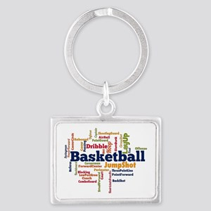Basketball Word Cloud Keychains