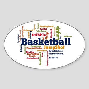 Basketball Word Cloud Sticker