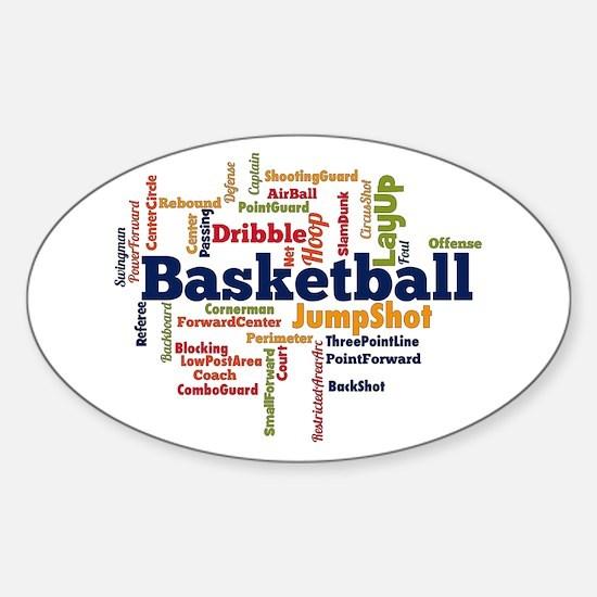 Basketball Word Cloud Decal