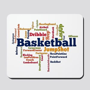 Basketball Word Cloud Mousepad