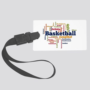 Basketball Word Cloud Luggage Tag