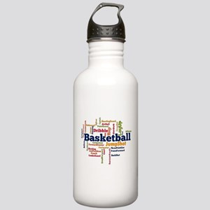 Basketball Word Cloud Water Bottle