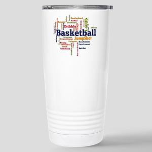 Basketball Word Cloud Travel Mug