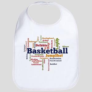 Basketball Word Cloud Bib