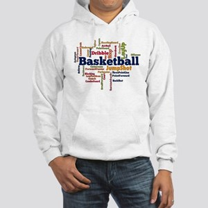 Basketball Word Cloud Hoodie