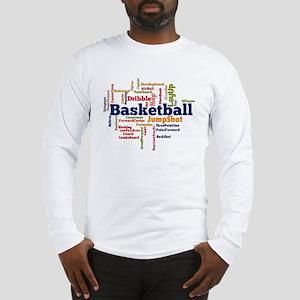 Basketball Word Cloud Long Sleeve T-Shirt