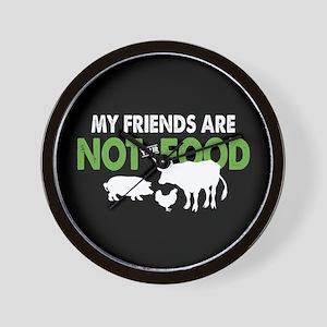 Not Food Vegan Wall Clock