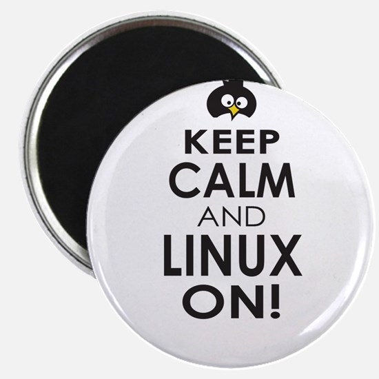 Penguin Keep Calm and Linux On Magnets