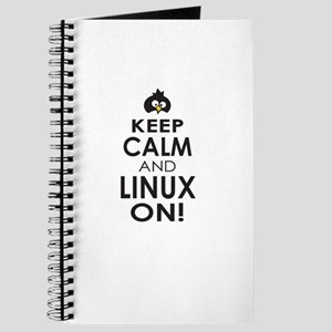 Penguin Keep Calm and Linux On Journal