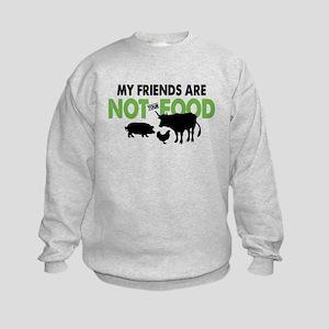 Not Food Vegan Kids Sweatshirt