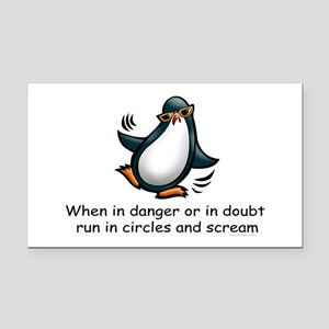 Screaming Penguin Rectangle Car Magnet