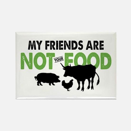 Not Food Vegan Rectangle Magnet