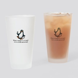 Screaming Penguin Drinking Glass