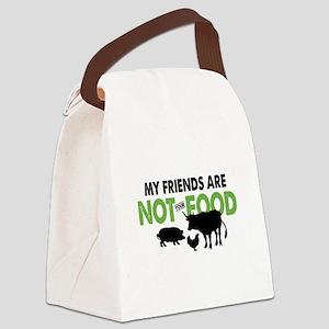 Not Food Vegan Canvas Lunch Bag