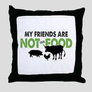Not Food Vegan Throw Pillow