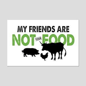 Not Food Vegan Mini Poster Print