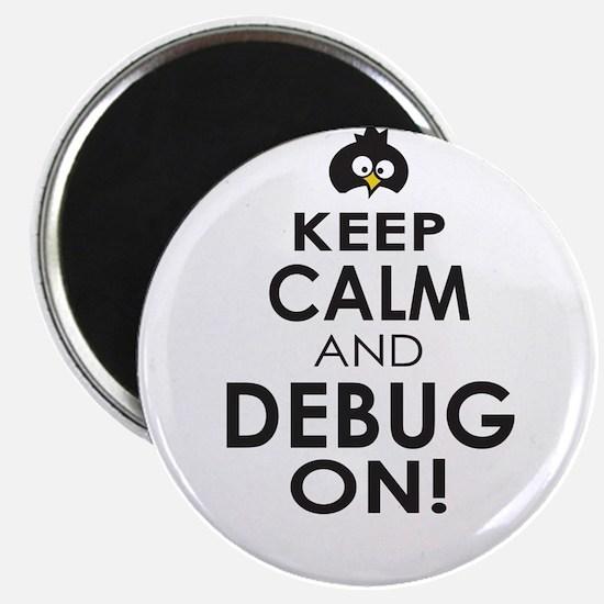 Penguin Keep Calm and Debug On Magnets