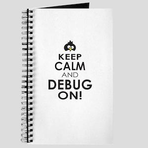 Penguin Keep Calm and Debug On Journal