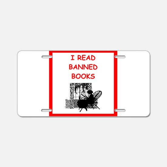 banned books Aluminum License Plate