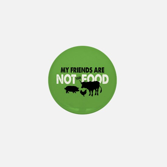 Not Food Vegan Mini Button