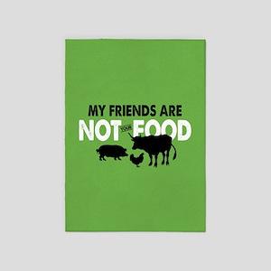 Not Food Vegan 5'x7'Area Rug
