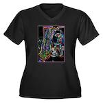 Negative Women's Plus Size V-Neck Dark T-Shirt