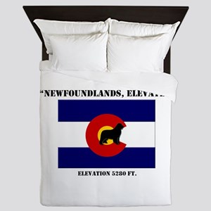 Colorado flag Newf Queen Duvet
