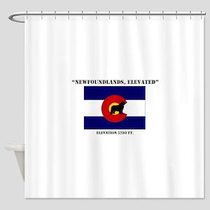 Colorado flag Newf Shower Curtain