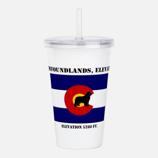 Colorado flag Newf Acrylic Double-wall Tumbler