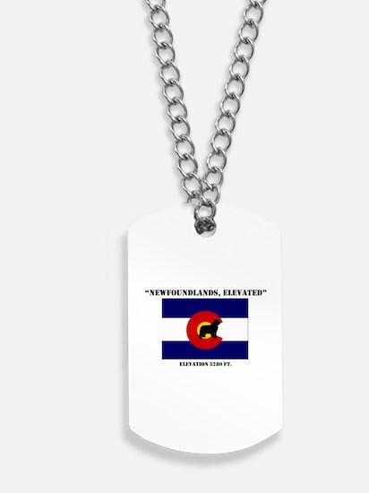 Colorado flag Newf Dog Tags