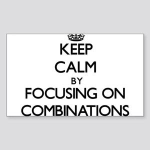 Keep Calm by focusing on Combinations Sticker