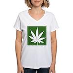 Cannabis Women's V-Neck T-Shirt