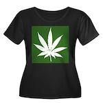 Cannabis Women's Plus Size Scoop Neck Dark T-Shirt