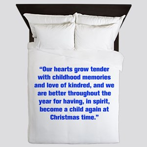 Our hearts grow tender with childhood memories and