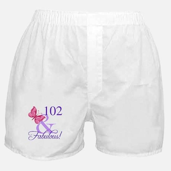 Fabulous 102th Birthday Boxer Shorts