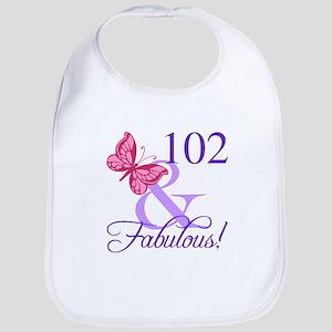 Fabulous 102th Birthday Bib