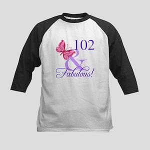 Fabulous 102th Birthday Baseball Jersey