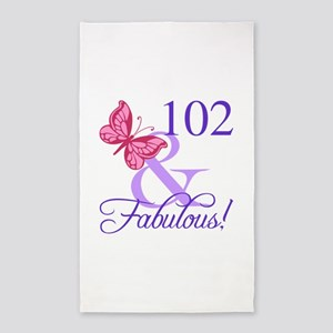 Fabulous 102th Birthday 3'x5' Area Rug