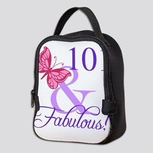Fabulous 101st Birthday Neoprene Lunch Bag