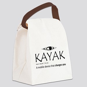 Kayak, A Mobile Device That Charg Canvas Lunch Bag