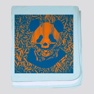 Bluish Yellow Panda baby blanket