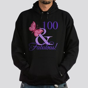 Fabulous 100th Birthday Hoodie (dark)