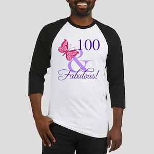Fabulous 100th Birthday Baseball Jersey