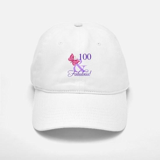 Fabulous 100th Birthday Baseball Baseball Cap