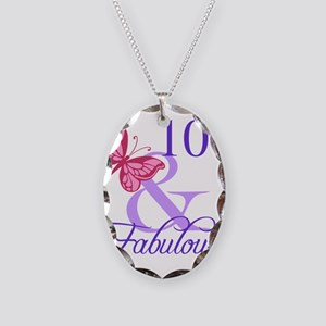 Fabulous 100th Birthday Necklace Oval Charm