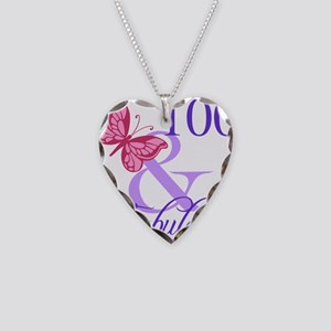Fabulous 100th Birthday Necklace Heart Charm