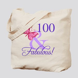 Fabulous 100th Birthday Tote Bag