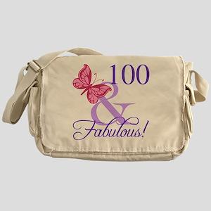Fabulous 100th Birthday Messenger Bag